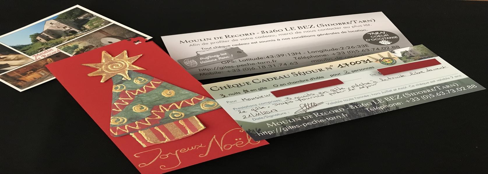 Nos Cartes Cadeau Séjour - le cadeau idéal pour Noël
